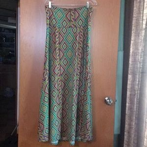 LulaRoe maxi skirt MEDIUM bright colors